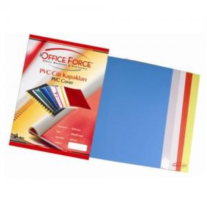 Sarff Cilt Kapaği Pvc A4 Renkli Şeffaf 160mic. 100'lü